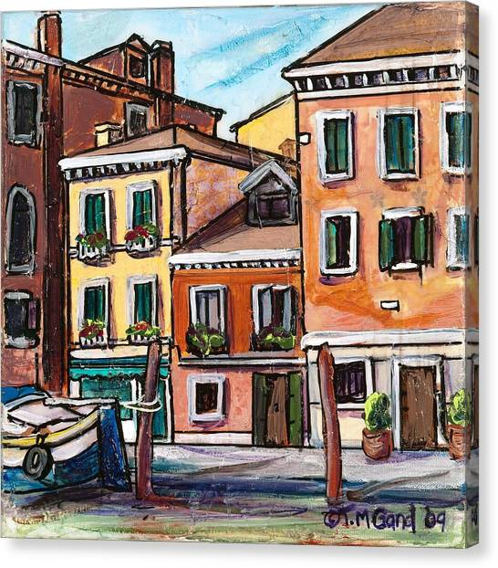 Canvas Print featuring the painting I Parked Out Front by TM Gand