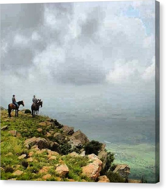 Horse Farms Canvas Print - I Picture I Took On A Ride To The Top by Joyks Rickards