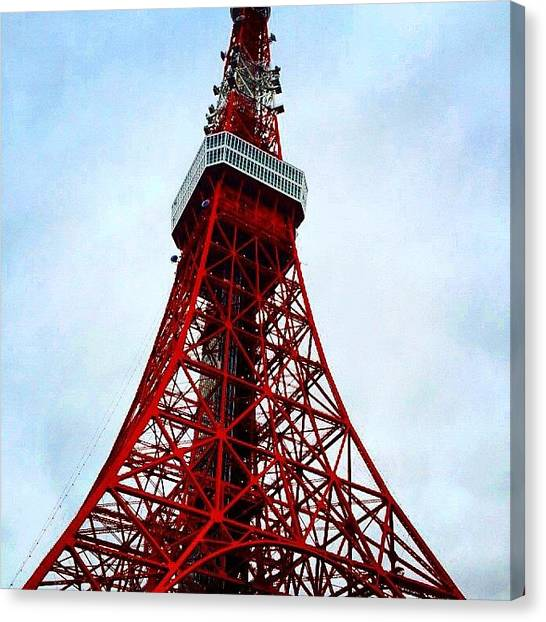 Tokyo Skyline Canvas Print - Tokyo Tower by Flower Foryou