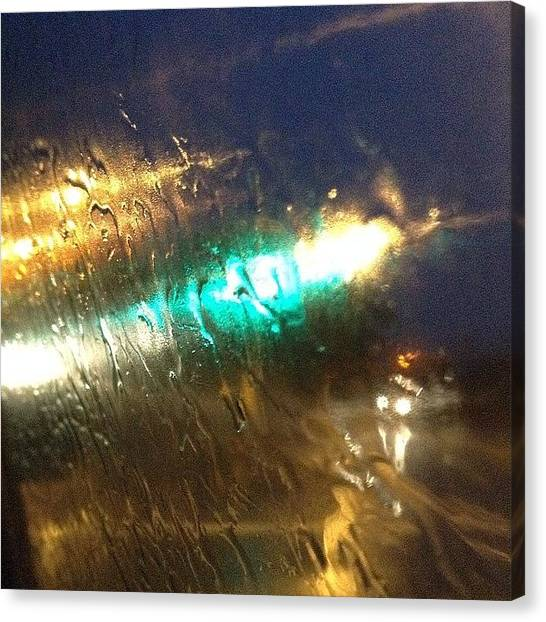 Traffic Canvas Print - Blurred Light by Sean Cahill