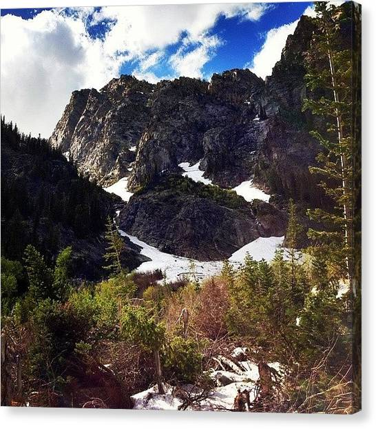 Tetons Canvas Print - I Saw A Smiling #snow When We Were by Mindful Adventure