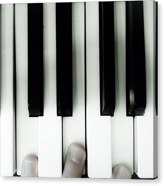 Keyboards Canvas Print - I See Major by Mikko Lohenoja