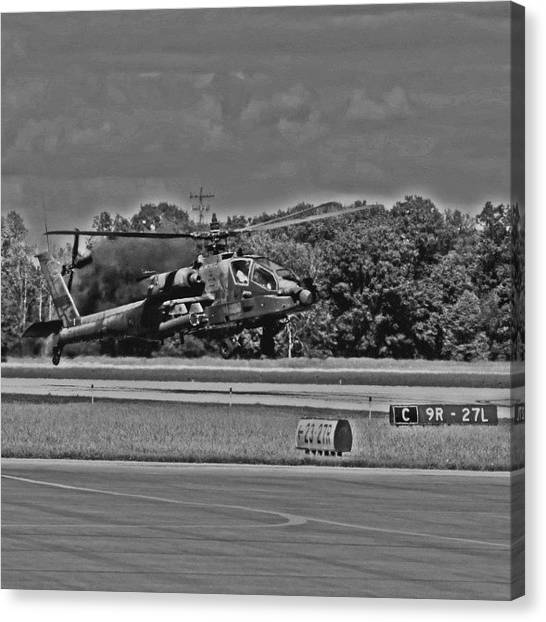 Helicopters Canvas Print - I See The Camouflage Is Working Well by Harrison Miller