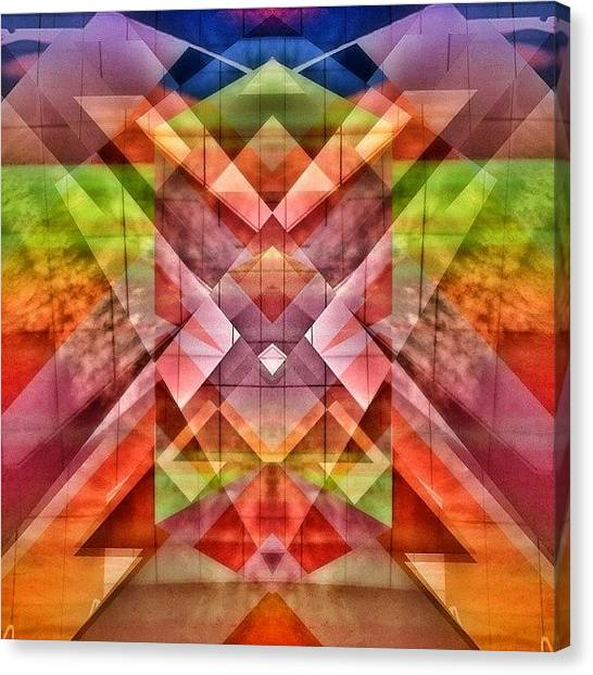 Symmetrical Canvas Print - I See Tigger From Winnie The Pooh by Jeddadiah Aiono
