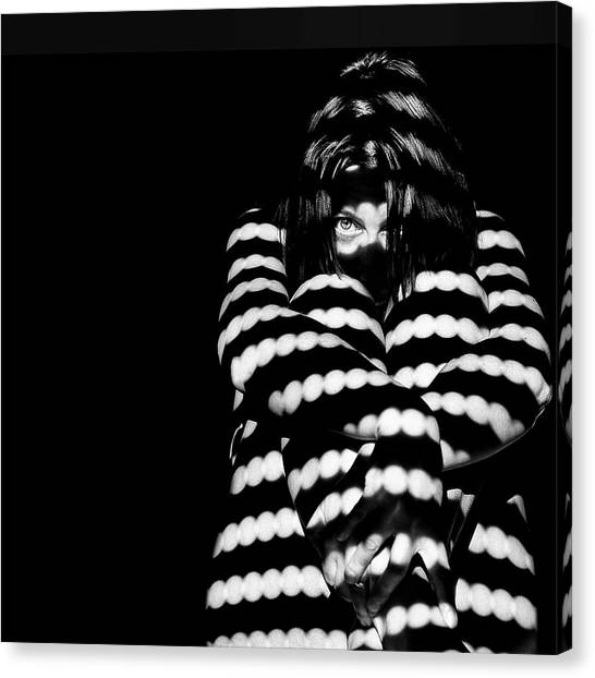 Shadows Canvas Print - I See You by Claudio Montegriffo (nero)