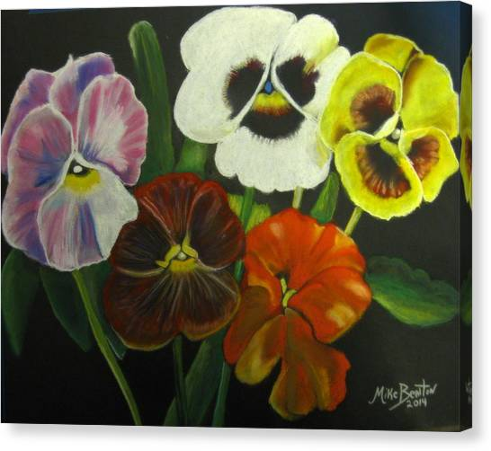 I See Your Pansies Canvas Print
