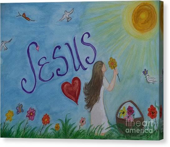 I Seek You Canvas Print by Maggie Rodriguez
