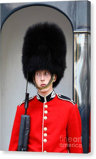 Royal Guard Canvas Print - I Spy From The Corner Of My Eye by James Brunker