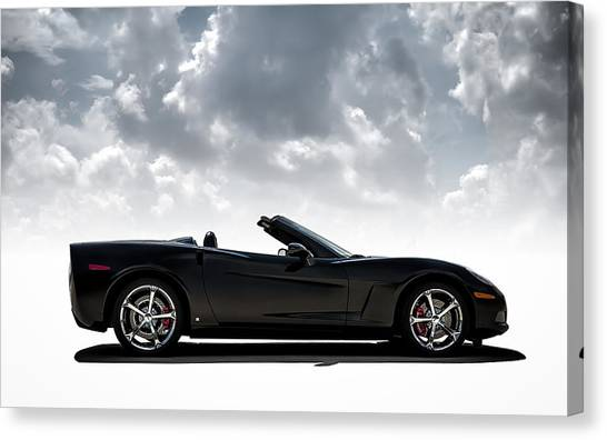 Chevrolet Corvette Canvas Print - I Take Mine Black by Douglas Pittman