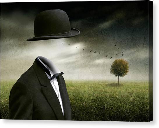 Tuxedo Canvas Print - I Think, I'm A Dreamer by Ben Goossens