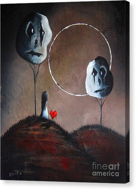 Burton Canvas Print - I Think We Went The Wrong Way By Shawna Erback by Shawna Erback