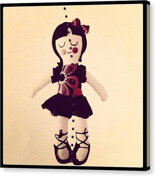 Ballerinas Canvas Print - I Wanna Be A ballerina!!!!! #doll by Margherita Anna Mulas