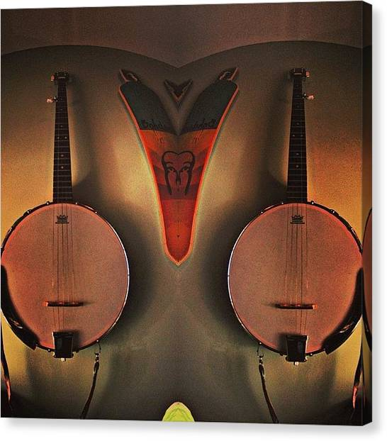 Banjos Canvas Print - I Wanna Learn How To Play The Banjo by Kyle Watt