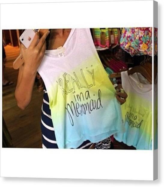 Mermaids Canvas Print - I Want ^ #fashion #style #stylish #love by Jackeline Gonzalez