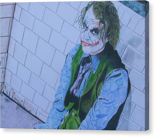 Heath Ledger Canvas Print - I Want My Phone Call by Jeremy Moore