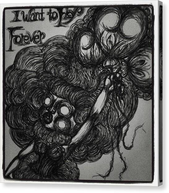 Gothic Art Canvas Print - I Want To Fry Forever by Akiko Okabe