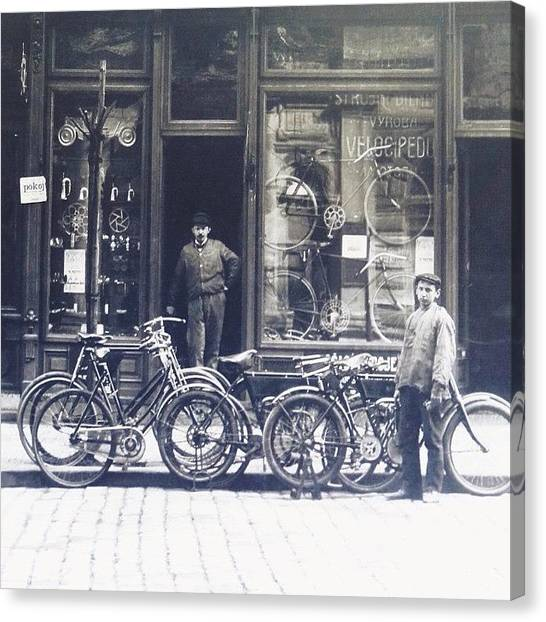 Grandpa Canvas Print - I Want To Ride My #bicycle by James Bare