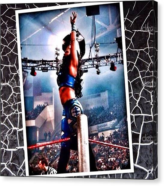 Wwe Canvas Print - I Want To Say Thank You To by Melina Perez