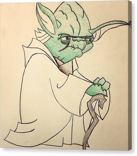 Yoda Canvas Print - I Was Bored And Decided To Sketch by Alisha B