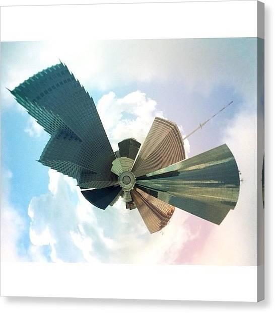 Houston Skyline Canvas Print - Tiny City by Blake Fountain