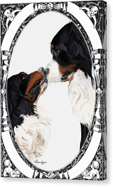 Bernese Mountain Dogs Canvas Print - I-will-always-love-you  by Liane Weyers