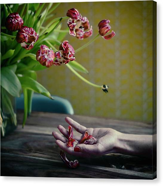 Hand Canvas Print - I Will Love You Better.... by Ambra