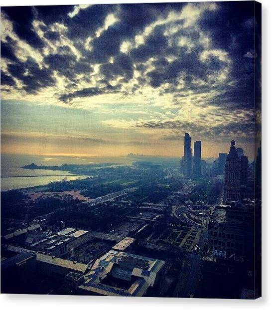 Sears Tower Canvas Print - I Will Never Get Tired Of This View by Jill Tuinier
