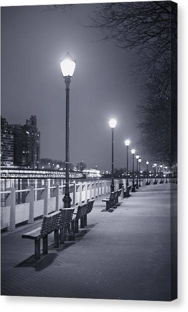 Night Lights Canvas Print - I Wonder As I Wander by Evelina Kremsdorf