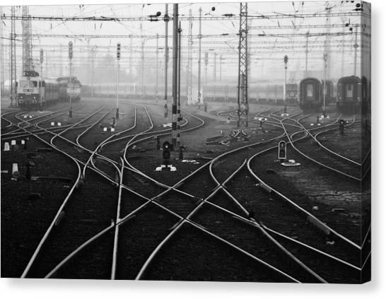 Freight Trains Canvas Print - I'm A November Passenger by Nicoleta Gabor