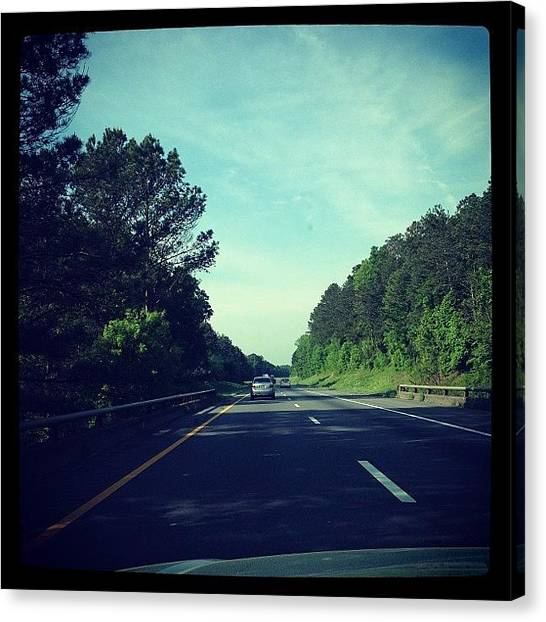 Interstates Canvas Print - #i75 #tennessee #interstate #8am by S Smithee