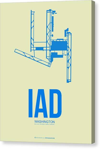 Washington D.c Canvas Print - Iad Washington Airport Poster 1 by Naxart Studio