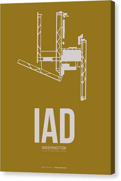 Washington D.c Canvas Print - Iad Washington Airport Poster 3 by Naxart Studio