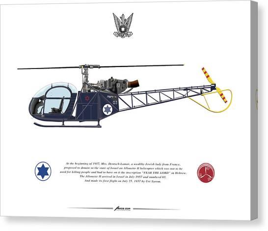 Iaf Allouette II Canvas Print