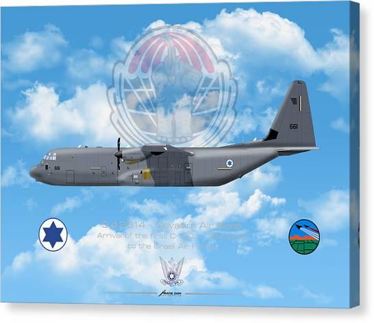 Iaf C-130j Shimshon Canvas Print