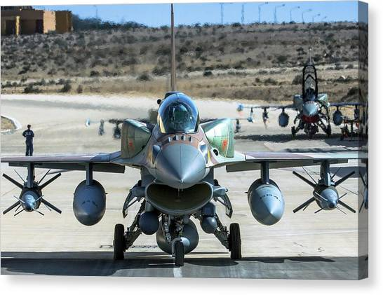 F16 Canvas Print - Iaf F-16i Fighter Jet by Photostock-israel