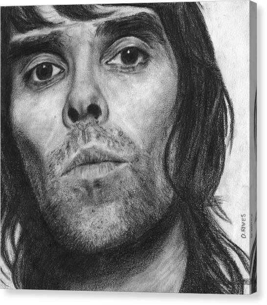 Ian Brown Pencil Drawing Canvas Print