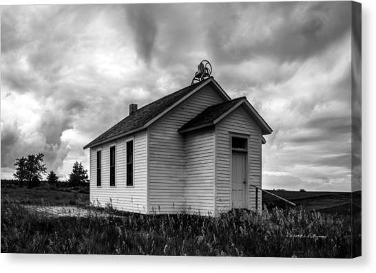 Canvas Print featuring the photograph Icarian Schoolhouse by Edward Peterson