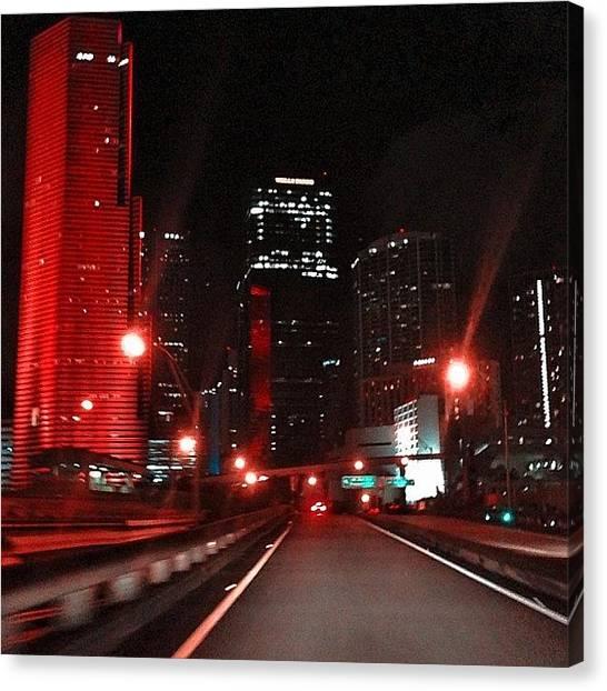 Miami Heat Canvas Print - #ic_cities #interstate #instadaily by Alexandr Dobrovan