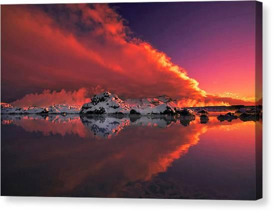 Winter Sky Canvas Print - Ice & Fire by ?orsteinn H. Ingibergsson