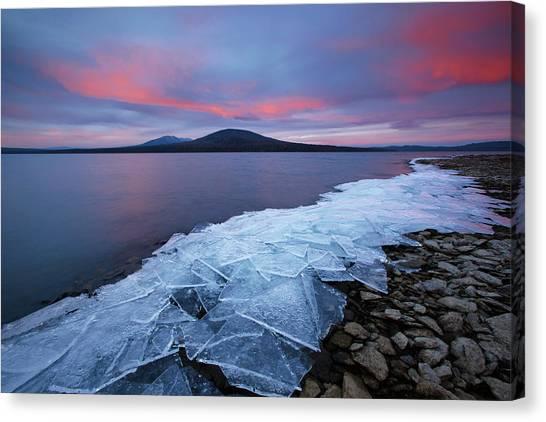 Winter Sky Canvas Print - Ice & Fire by Vadim Balakin