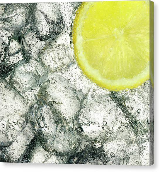 Ice And Lemon Canvas Print by Anthony Bradshaw