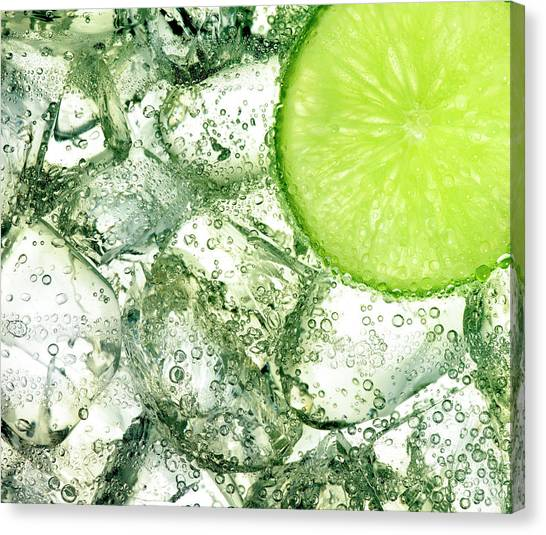 Ice And Lime Canvas Print by Anthony Bradshaw