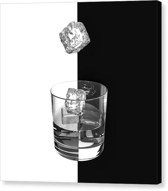 Whiskey Canvas Print - Ice And Wine by Antonyus Bunjamin (abe)