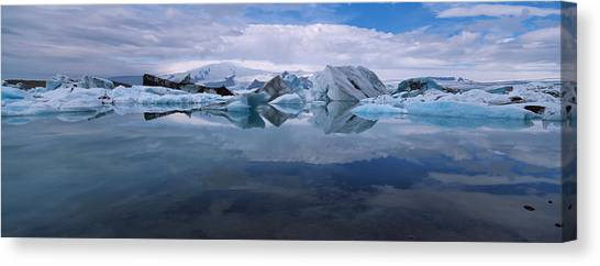 Vatnajokull Glacier Canvas Print - Ice Berg Floating On The Water by Panoramic Images