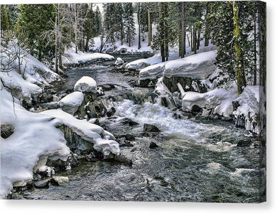 Canvas Print featuring the photograph Ice Blue Yuba At Soda Springs by William Havle