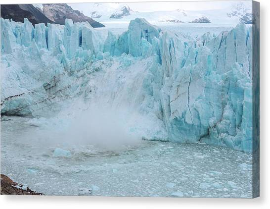 Perito Moreno Glacier Canvas Print - Ice Calving From A Glacier by Dr P. Marazzi/science Photo Library