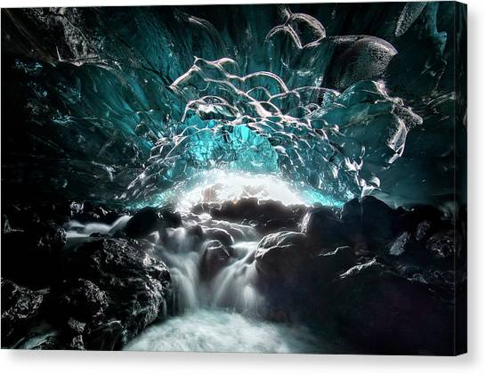 Caves Canvas Print - Ice Cave by Hua Zhu