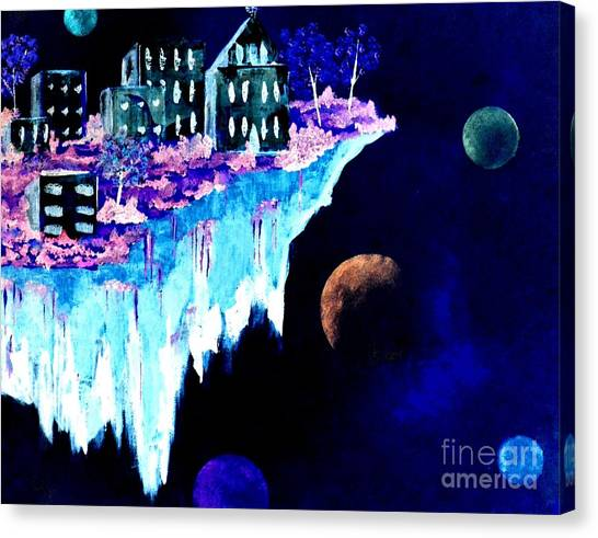 Ice City In Space Canvas Print