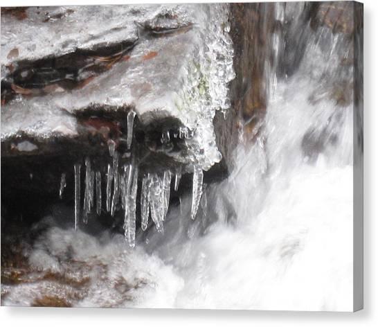Ice Cold Creek In Colorado Canvas Print