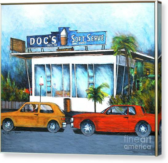 Ice Cream Restaurant In Delray Beach Fl Canvas Print